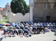 Sophia - Overflow Worshippers at Huge Mosque