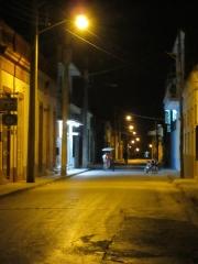 Las Tunas - A Street at Night