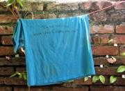 On a Clothesline Behind a Church
