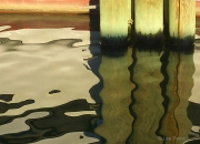 Pilings, Dark Oil, Two
