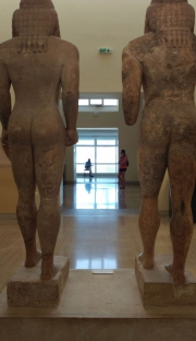 Delphi Museum - Two Ancient Brothers Observe Visitors