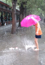 Kicking Puddles in the Rain