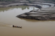 Single Sampan, Curved Mudflats