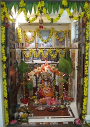 Family Shrine in a Hindu Home