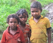 Indiginous Children Living on an Elephant Preserve